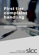 First tier complaint handling - guidance for solicitors