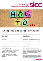 How to complete the Service and Conduct Complaint Form