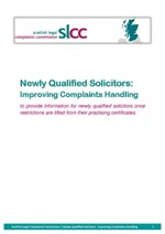 Complaints handling for newly qualified solicitors