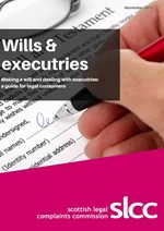 Wills and executries - a guide for legal consumers