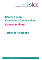 SLCC Consumer Panel - Terms of Reference