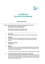 Consumer Panel approved Minutes 10 March 2020